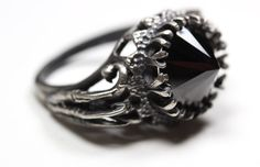 belonging to the darkness. sterling silver & black cz. $160.00, via Etsy.