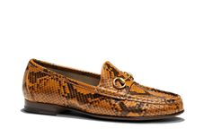 Gucci Python Loafers.