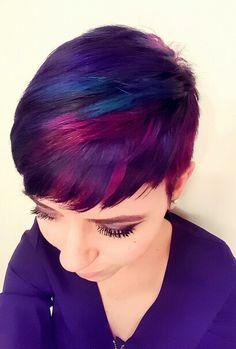 Purple pixie hair by @annikahair  https://i.instagram.com/annikahair/