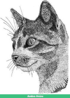 Pointillist feline