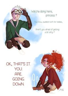 Rose and scorpius----> it could be argued that this is Merida and Jack Frost too. either way it's cute