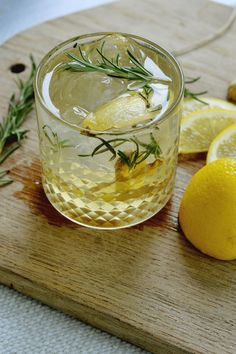 Rosemary Lemon Ginger Gin cocktail is a wonderful summer clean cocktail that is easy to make with ingredients from your pantry. A great cocktail to try with those with low tolerance for most cocktail drinks