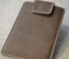 Tablet-PC-Taschen - iPad mini Bio Leder Tasche/Hülle - MACCHIATO - ein Designerstück von Antjes bei DaWanda