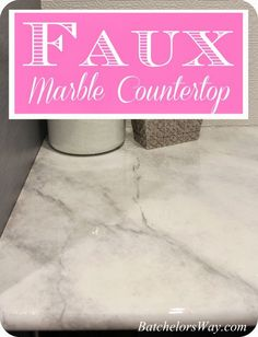 Batchelors Way: Laundry Room - DIY Countertops Part 2 - Faux Painting your laminate counter tops to look - authentically! - like marble.