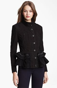 Burberry Brit 'Stanbury' Suede Coat available at #Nordstrom