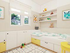 Kid room, child room, interior design, bright, white, colorful, wooden, furniture, idea, young, decoration, designer, romania