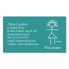 Elementary school tutor with inspirational motto business card elementary tutor teacher business card custom colourmoves