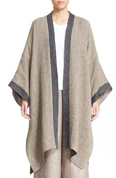 eskandar Reversible Two-Tone Linen Blend Coat available at #Nordstrom