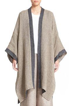 eskandar Reversible Two-Tone Linen Blend Coat available at #Nordstrom