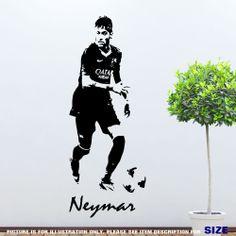 Neymar Junior Barcelona Footballer Wall Art Sticker wall decal sport Vinyl Mural