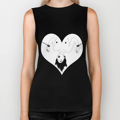 BDSM Bondage Illustration Biker Tank Available on Society6