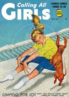 Calling all Girls (Apr 1961) - 10x14 Giclée Canvas Print of Vintage Children's Magazine by cheeseboyproducts on Etsy https://www.etsy.com/listing/153196802/calling-all-girls-apr-1961-10x14-giclee
