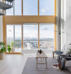 Styling by Heidi Forsell #Loft #viherkasvit #daybed #Kruunuvuorenranta #sisustus #interiordesign #bamboo Daybed, Bamboo, Loft, Windows, Interior Design, Style, Nest Design, Swag, Bed Couch