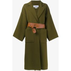 LOEWE Virgin Wool Cashmere-Blend Double Face Coat (9,465 MYR) ❤ liked on Polyvore featuring outerwear, coats, jackets, loewe, evening coat, long sleeve coat, brown coat and ski coat