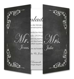 Einladungskarte Hochzeit Kreidehintergrund (RFE-453)