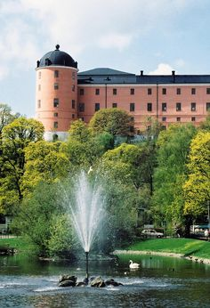 Uppsala Castle, Uppsala, Sweden, where we are staying with the clan.