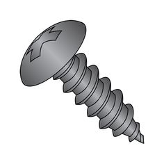 Pan Head Square Drive Type A Plain Finish #8-15 Thread Size Pack of 50 18-8 Stainless Steel Sheet Metal Screw 5//8 Length