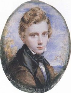 Self-portrait by George Richmond, 1830 (gouache). The Ancients were a group of young English artists who were brought together around 1824 by their attraction to archaism in art and admiration for the work of William Blake (1757-1827), who was a generation or two older than the group. The core members of the Ancients were Samuel Palmer, George Richmond, and Edward Calvert.