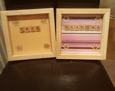 An ideal gift for your childs godmother.made to order and other colours available.just insert a photo onto the pegs.
