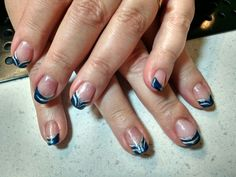 Blue and silver nail art by Heather Jenkins