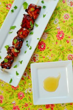 Grill Honey and porter glazed chicken kebabs recipe.