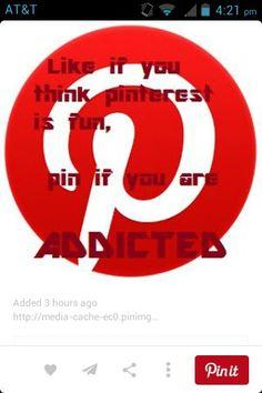 I am addicted to pinterest