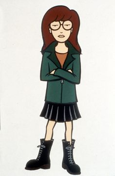 Daria - an animated series featuring a smart, sarcastic, nonconformist - a girl after my own heart!