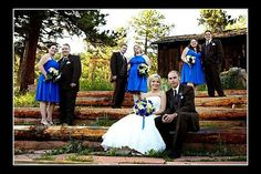 Royal Blue And White bridal party   Royal blue dresses and chocolate brown tuxes « Weddingbee Gallery