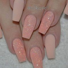 A manicure is a cosmetic elegance therapy for the finger nails and hands. A manicure could deal with just the hands, just the nails, or Fabulous Nails, Gorgeous Nails, Pretty Nails, Hot Nails, Hair And Nails, Uñas Color Coral, Coral Art, Nude Color, Nail Art Designs 2016
