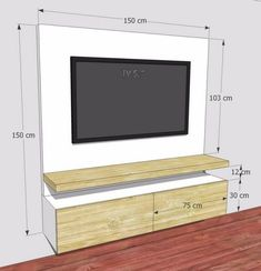 Meuble Tv Angle, Living Room Tv Unit, Living Room Decor, Living Room Designs, Be… – Typical Miracle Bedroom Tv Unit Design, Living Room Tv Unit Designs, Tv Wall Design, Tv In Bedroom, Partition Design, Tv On Wall Ideas Living Room, Bedroom Decor, House Design, Tv Stand Modern Design