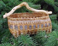 Western red cedar, willow and pine bark, with western red cedar root handle