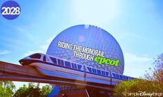 riding the monorail through epcot