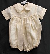 """Model Garment: Ms. Dot's """"In The Forest"""" Linen Baby Bubble  (1 available) (7-23-12)"""