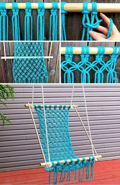 Macrame Wall Hanging Patterns, Macrame Patterns, Macrame Design, Macrame Art, Diy Crafts For Gifts, Diy Home Crafts, Diy Bedroom Decor For Teens, Dragon Fly Craft, Diy Hammock