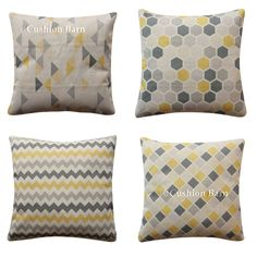 Handmade CONTEMPORARY GREY 100/% Cotton Cushion Cover Various sizes