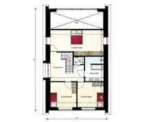Moderne woning met mansardekap en vide - 1e verdieping