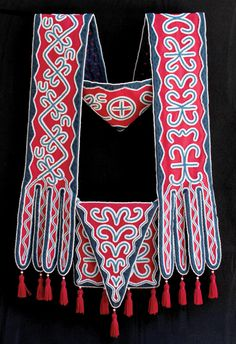 choctaw bandolier bag - Google Search Native American Cherokee, Native American Regalia, Native American Artifacts, Native American Beadwork, Choctaw Indian, Choctaw Nation, Seminole Indians, Tribal Outfit, Powder Horn