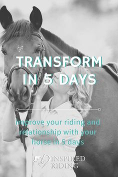 Improve your riding and relationship with your horse in 5 days! Horseback Riding Tips, Animal Communication, Walking Exercise, How To Gain Confidence, Horse Riding, Equestrian, Improve Yourself, Stress, Challenges