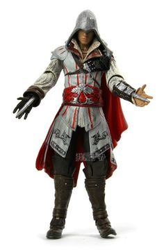 """24.80$  Buy here - http://aliqey.shopchina.info/go.php?t=688406044 - """" Assassin's Creed II Action Figure Ezio Auditore Da Firenze White Clothes PVC 7"""""""" Toys  Free Shipping""""  #aliexpress"""