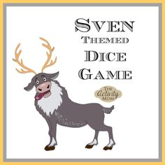 FREE, Printable Sven Themed Dice Game