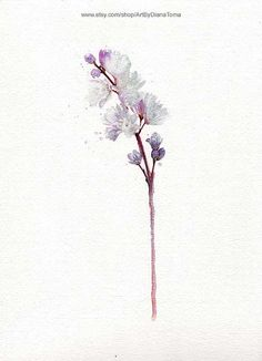 "Purple Bloom / 8"" x 10"" fine art watercolor print"