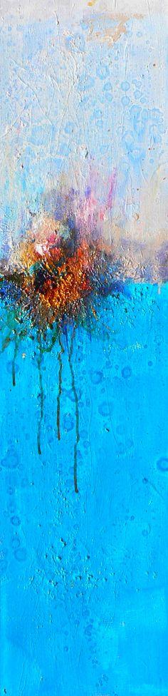 Amy Longcope | untitled seascape, 6-20-12 Acrylic Mixed Media  48 X 12 X 2 Inches  www.amylongcope.com