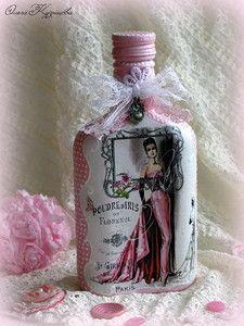 Recycled Wine Bottles, Wine Bottle Art, Lighted Wine Bottles, Diy Bottle, Wine Bottle Crafts, Bottles And Jars, Jar Crafts, Bottle Lights, Altered Bottles Tutorial
