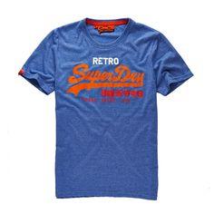 T-shirt vintage logo, estampada, gola redonda Superdry | La Redoute