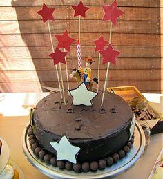 Homemade Cowboy themed cake - easy DIY