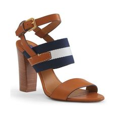 Ralph Lauren Laney Calfskin Sandal ($695) ❤ liked on Polyvore featuring shoes, sandals, high heel shoes, ralph lauren, calfskin shoes, open toe sandals and high heel sandals