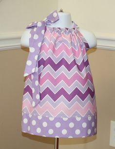 shaded purple spring chevron Pillowcase dress riley blake lilac lavender polka dot toddler easter dress 3, 6, 9, 12, 18 mo 2t, 3t, 4T on Etsy, $19.99