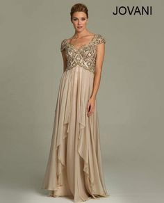 Stunning greek goddess nude gold mother of the bride gown by Jovani 2014