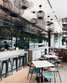 Design Restaurants • Interiors of restaurants and bars #InteriorDesignCafe #restaurantdesign