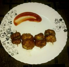 Golden Fried Mushrooms Recipe and Nutrition Chart - YumZen Fried Mushrooms, Stuffed Mushrooms, Fried Mushroom Recipes, Nutrition Chart, Coriander, Chutney, Sausage, Fries, Food And Drink